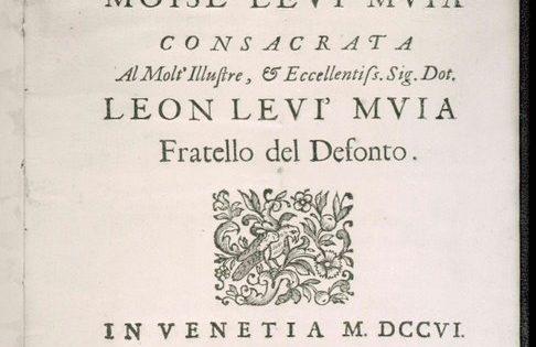 Elegy, Moise Levi Muia and Leon Levi Muia (?), Venice, 1706, RB448:33, Title page.