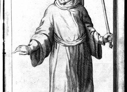 Portrait of Sabbatai Zvi, from John Evelyn, Historia de Tribus Hujus Seculi Fanosis Impostoribus (1669), RB 436.8.