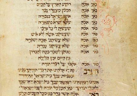 Mahzor (Italian rite; commissioned for woman), Abraham ben Mordecai Farissol (scribe), Italy, 1471, MS 8255, Fol. 5v.