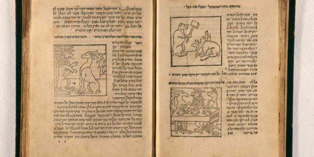 Meshal ha-Kadmoni, Isaac ben Solmon ibn Sahula, Brescia: Gershom Soncino, 1491, Heb-45, Fols. 18v-19r.