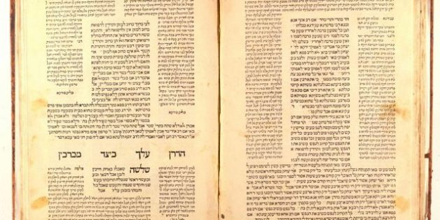Talmud, Berakhot, Soncino, 1483, Printed by Joshua Solomon Soncino, Heb-102, Fols. 70v-71r.