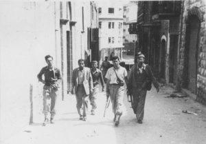 Arabs Battle Jews Near Haifa 1948