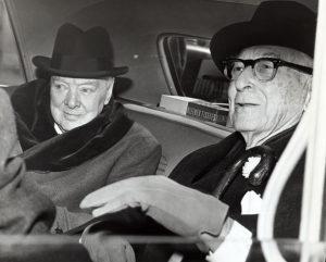 Bernard Baruch and Winston Churchill
