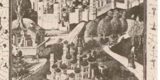 Jerusalem Etching, 14th century