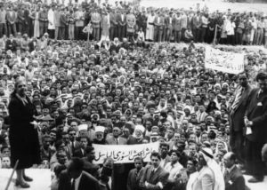 Moslems violently protested the partition of Palestine