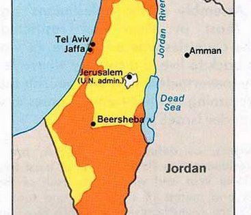 U.N. Partition Plan, 1947.