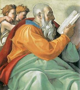 Zechariah by Michaelangelo in the Sistine Chapel