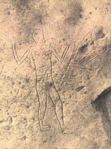 The earliest depiction of a stringed instrument. Megiddo 3000BC