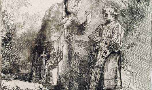 Abraham and Isaac, Rembrandt, 1645.