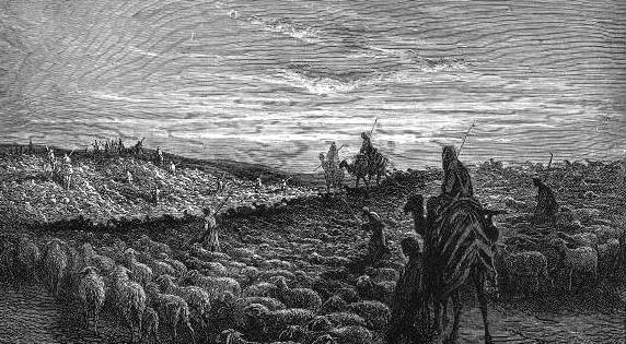 Abraham Journeying into the Land of Canaan, Gustave Doré (1832-1883).
