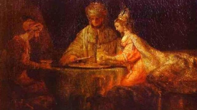 Ahasverus, Haman and Esther, Rembrandt
