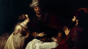 Esther and Haman before Ahasverus