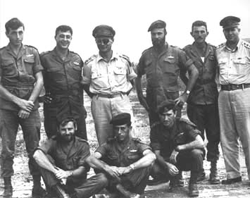 Officers of the Parachutist 890e Battalion, 1955