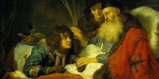 Isaac Blessing Jacob, Govert Flinck, Oil Painting, 1638.