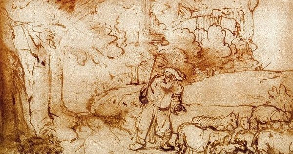 Moses and the Burning Bush, Rembrandt (1606-1669).