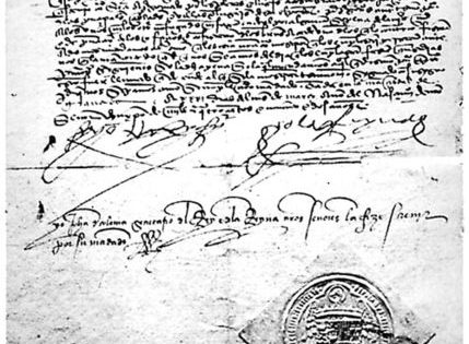 Edict of the Expulsion of the Jews from Spain, 1492