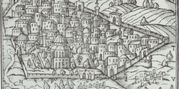 Drawing of Jerusalem, 1581
