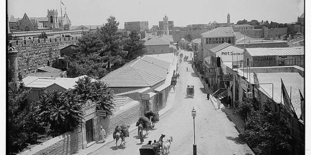 View Looking Down Jaffa Street, Jerusalem, Library of Congress, 1898-1914