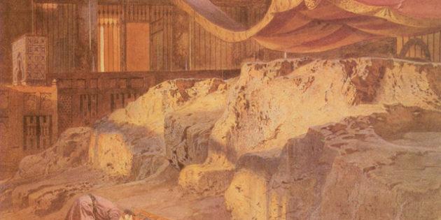 Carl Werner's Holy Rock, 1864