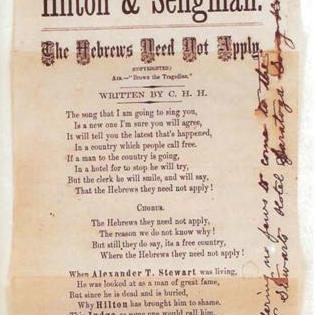 The Seligman-Hilton Affair, 1877