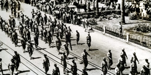 Arabs on the March, Oct. 11, 1947.