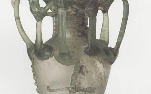 Glass Vessel Decorated with Crosses, 5th-6th century CE