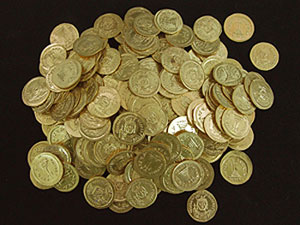 Gold Coin Hoard, 610-613 CE