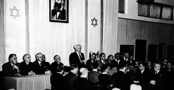 Declaration of Israel's Independence, May 14, 1948.