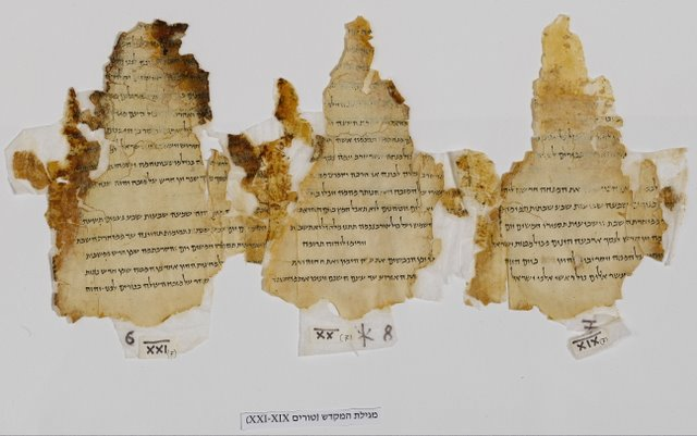 Dead Sea Scrolls - test chart