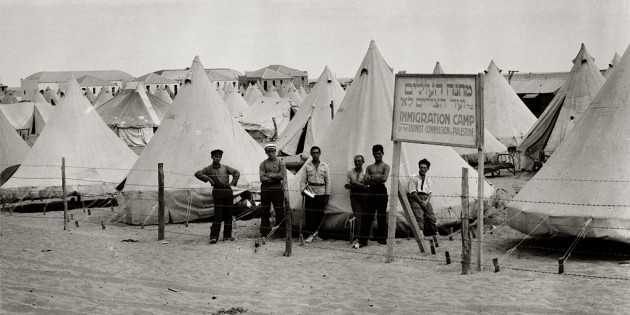 Camp of New Immigrants on the Sea Shore of Tel Aviv
