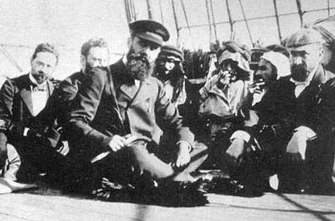 Herzl on a Boat En Route to Palestine