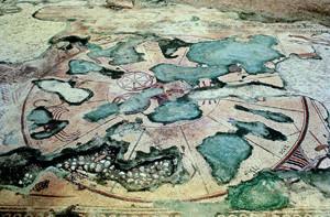 Zodaic Wheel, Mosaic Floor, Naaran Synagogue