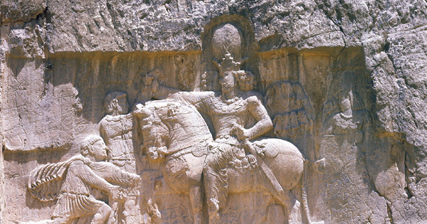 Rock Relief Portraying the Sassanian King Shapur II