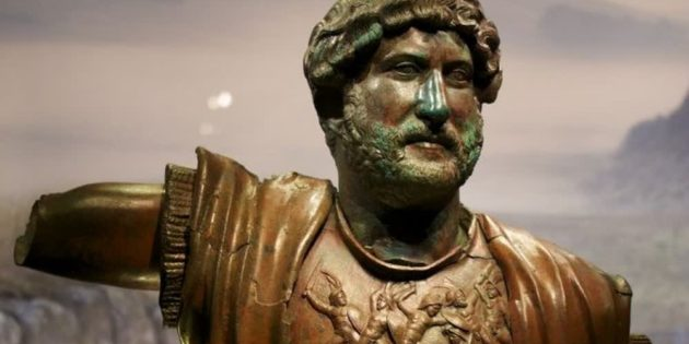 Rare Bronze Statue of Hadrian Found by Tourist
