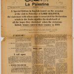 Visit to Palestine of Lord Balfour