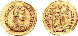 Valentinianus III Solidus