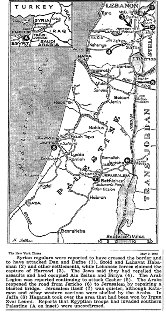 Map of Palestine May 2 1948