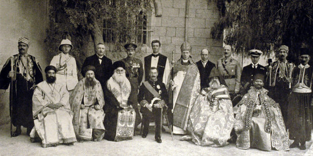 January 18, 1919 A delegation of Muslim-Christian before the Key-Crane commission In Jerusalem