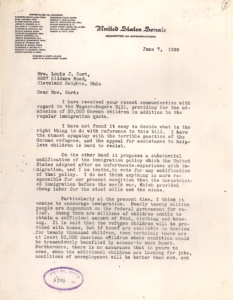 Letter from Robert Taft pg1