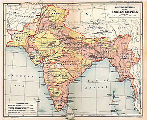 1909 Map of British Indian Empire