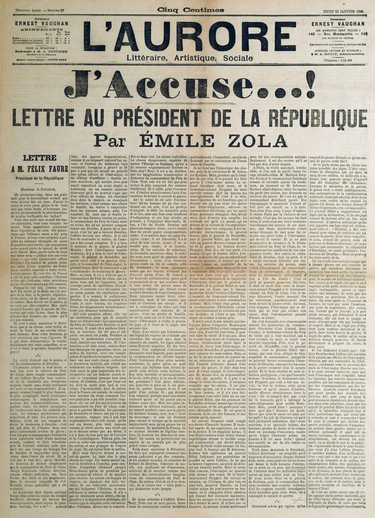 J'Accuse by Emile Zola