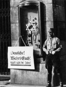 Nazis Boycott Jewish Businesses 1933