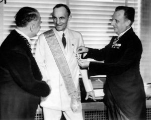 Henry Ford Receiving Grand Cross from Nazis