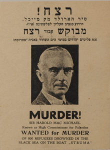 Murder! Sir Harold Mac Michael Wanted Poster