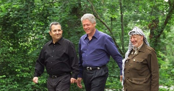 July 11, 2000 Camp David/ Yasser Arafat/ Ehud Barak