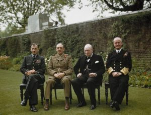 Churchill and his Chief of Staffs 1945