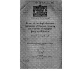Report of the Anglo-American Commission
