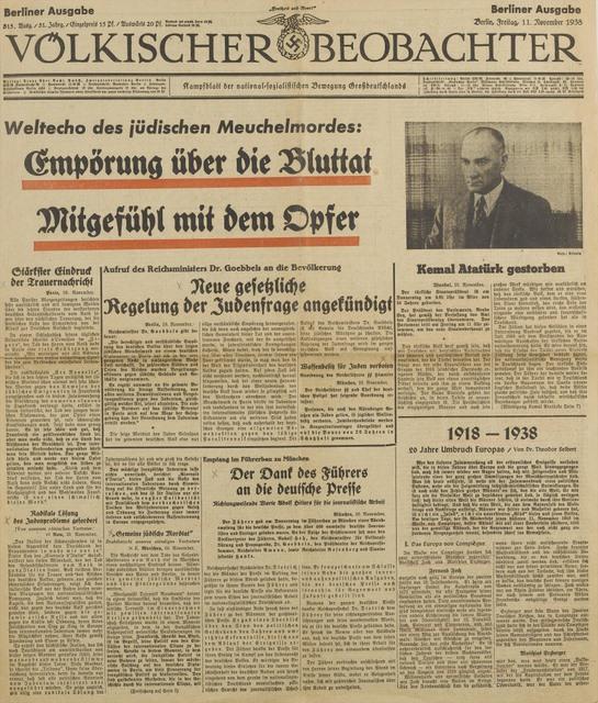 VOLKISCHER BEOBACHTER 11 11 1938 p1.jpg